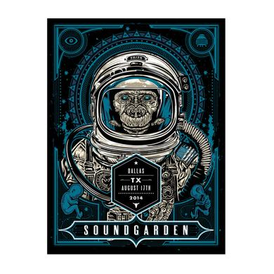 Soundgarden August 17th 2014 Dallas Event Poster