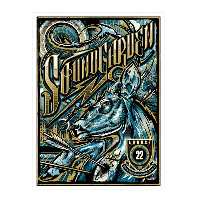 Soundgarden August 22nd 2014 Irvine Event Poster