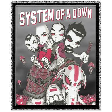 System Of A Down Mushroom People Woven Blanket