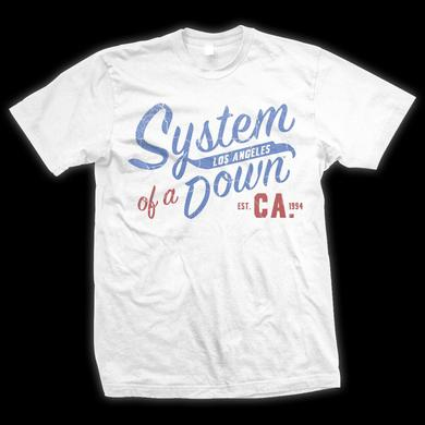 System Of A Down Script CA Collegiate T-Shirt