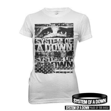 System Of A Down Women's Shirt and Bracelet Bundle