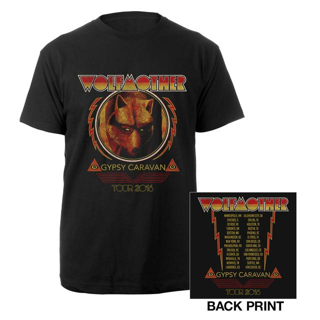 Wolfmother 2016 US Gypsy Caravan Itinerary Tee