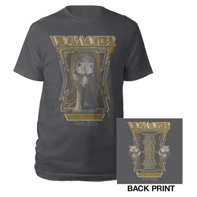 Wolfmother 2016 US Charcoal Itinerary Tee