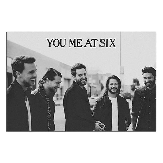 You Me At Six Black & White Poster