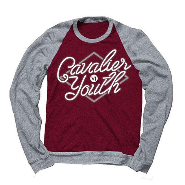 You Me At Six Cavalier Youth Raglan Maroon/Grey Crew Sweatshirt
