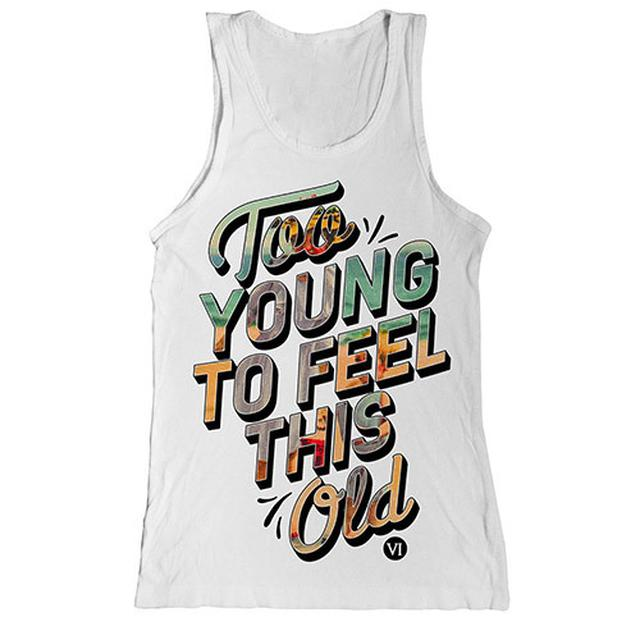 You Me At Six White Too Young Tunic Vest