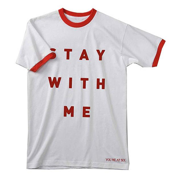 You Me At Six Stay With Me Red/White Ringer T-shirt