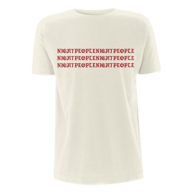 You Me At Six YMAS Logo/Night People Natural T-shirt