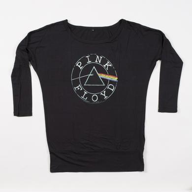 Pink Floyd Women's Long Sleeve Circle Logo T-Shirt
