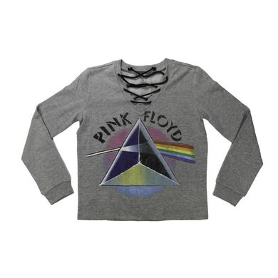 Pink Floyd Women's Pastel Prism Lace-Up  Sweater