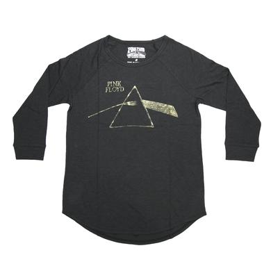 Pink Floyd Dark Side Shimmering Gold Prism Long Sleeve T-Shirt