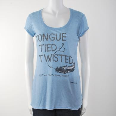 Pink Floyd Tongue Tied and Twisted Lyric Culture Ladies T-Shirt