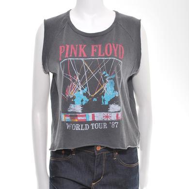 Pink Floyd Women's World Tour '87 Sleeveless Crop Top