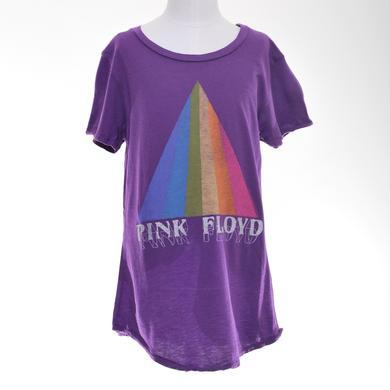 Pink Floyd Girls Dark Side Pyramid Stripe T-Shirt
