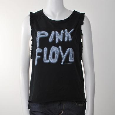 Pink Floyd Women's Sleeveless Ruffle Punk Rock T-Shirt