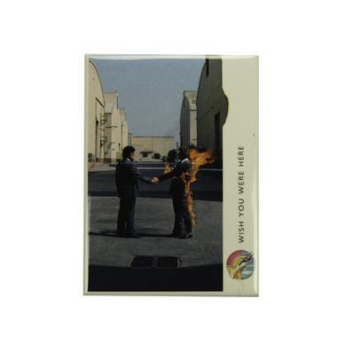Pink Floyd Rectangular WYWH Burning Handshake Magnet
