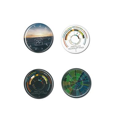 Pink Floyd The Endless River 4 Button Set