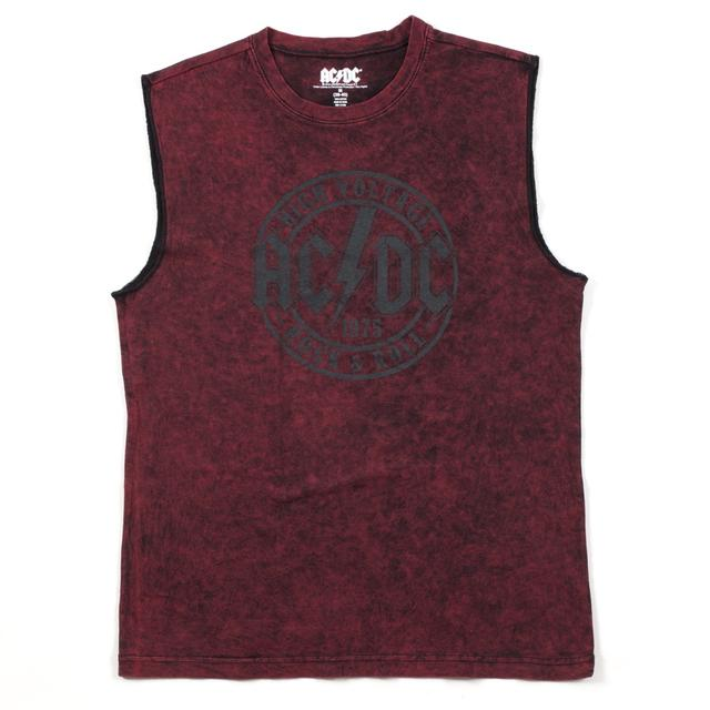 AC/DC Men's's High Voltage Stamp Muscle T-Shirt