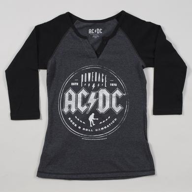 AC/DC Women's Button-Up Angus Icon Raglan