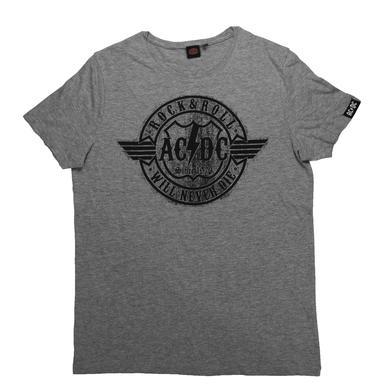 AC/DC Women's Rock & Roll Will Never Die T-Shirt
