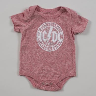 AC/DC High Voltage Circle Logo Onesie