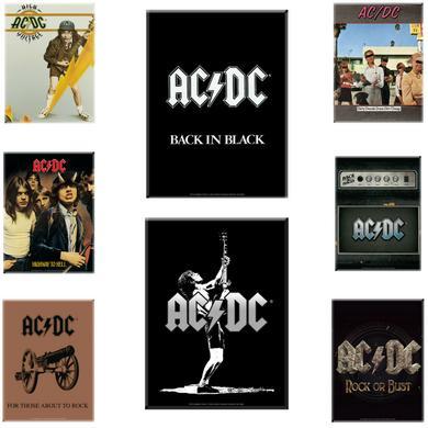 AC/DC Decorative Glass Print