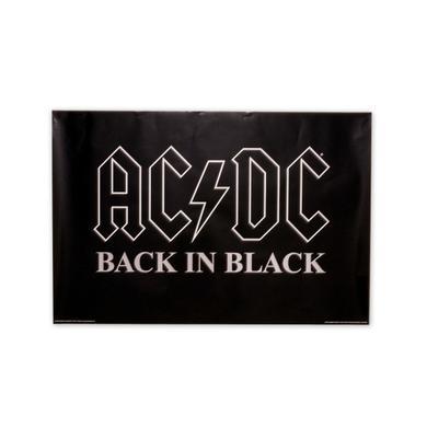 AC/DC Back In Black Logo Poster