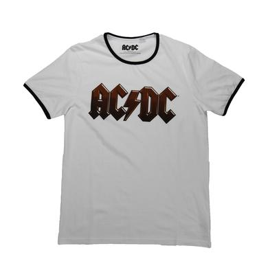 AC/DC Thin Ringer Logo T-Shirt