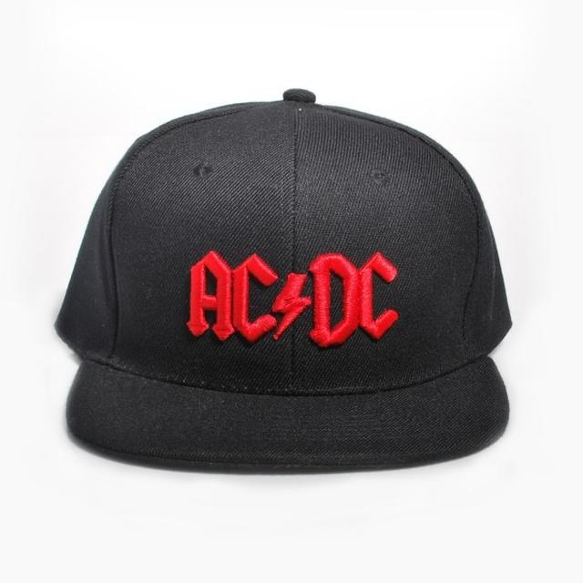 AC/DC Red Lightning Embossed Logo Hat