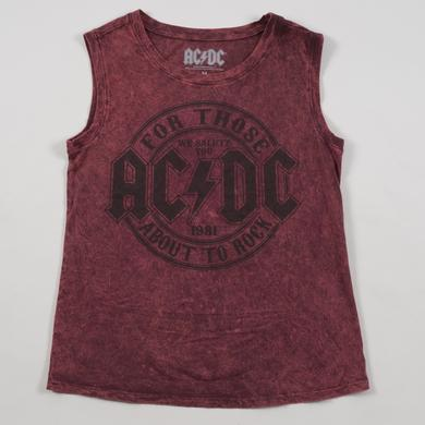 AC/DC Burgundy High Voltage Bolt '75 Sleeveless T-Shirt