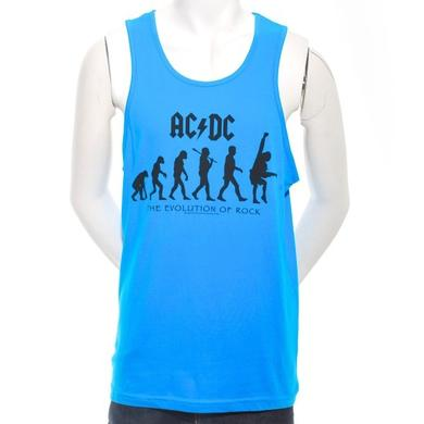 AC/DC Blue Evolution Of Rock Tank Top