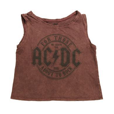 AC/DC Women's We Salute You Sleeveless T-Shirt