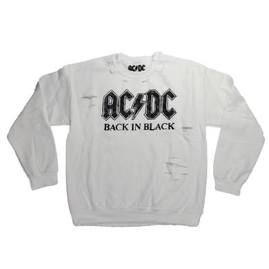 AC/DC Back In Black Tattered Long Sleeve T-Shirt