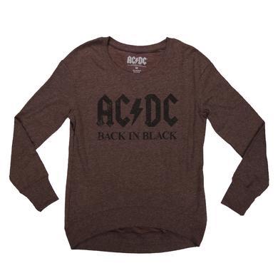 AC/DC Women's Long Sleeve Back In Black T-Shirt