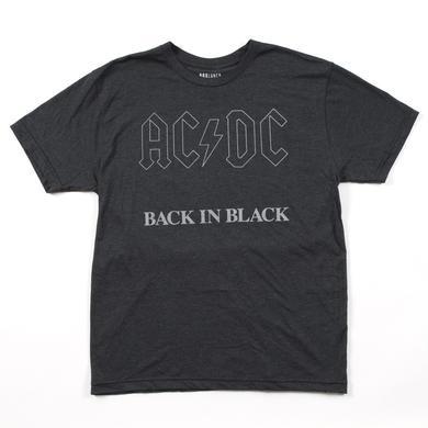 AC/DC Back In Black On Black T-Shirt