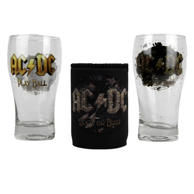 AC/DC Rock or Bust Pint Glass and Can Cooler Set