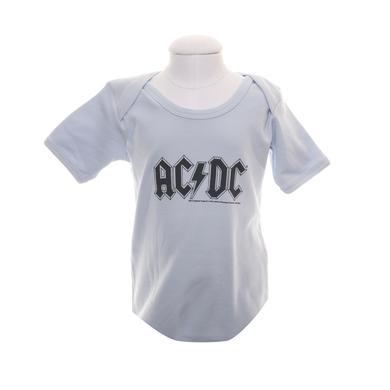 AC/DC Light Blue Classic Logo Onesie