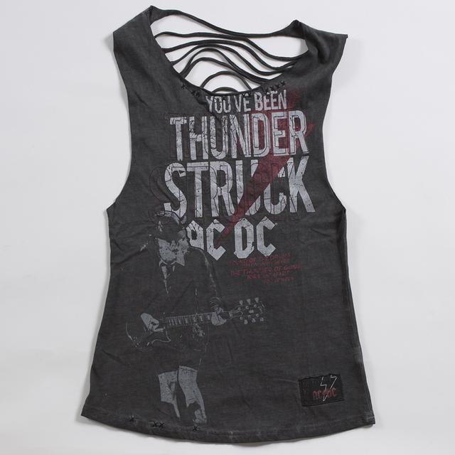 AC/DC Women's Back Cut Thunderstruck Tank