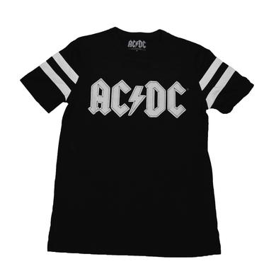 AC/DC Shoot To Thrill Striped Sleeve T-Shirt