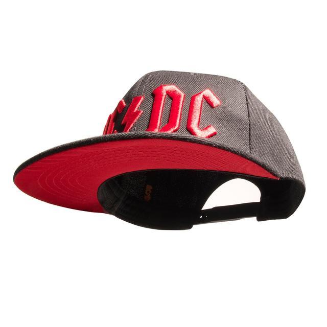 AC/DC Red Under Brim 3D Logo Hat