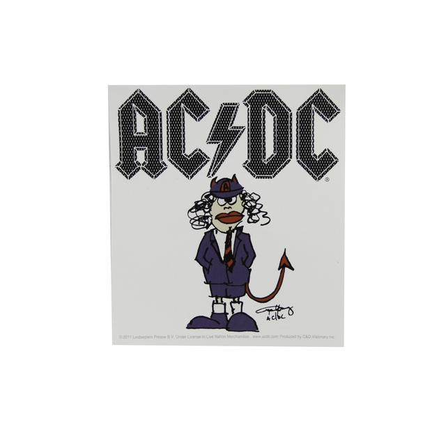 AC/DC Angus Devil Cartoon Sticker