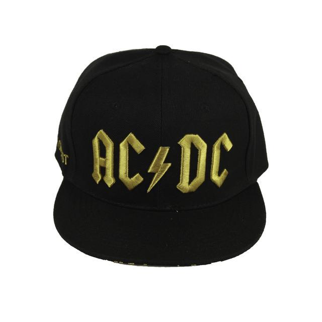 AC/DC Mustard 3D Logo Under Brim Hat