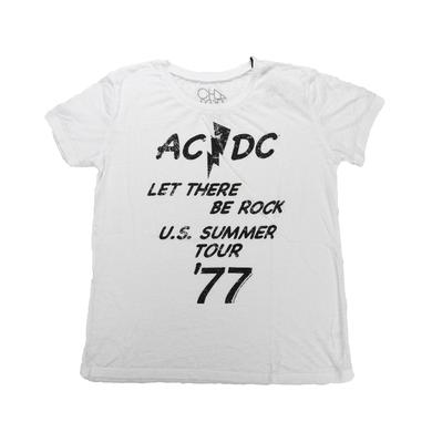 AC/DC Women's Let There Be Rock '77 Summer Tour T-Shirt