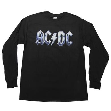 AC/DC Icy Steel Logo Long-Sleeved T-Shirt