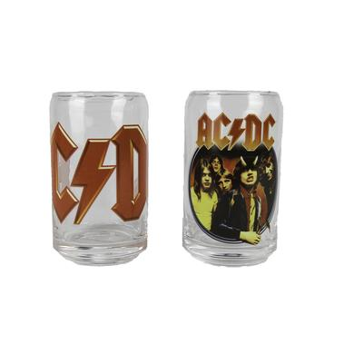 AC/DC 2 Piece Can-Shaped Glasses Set