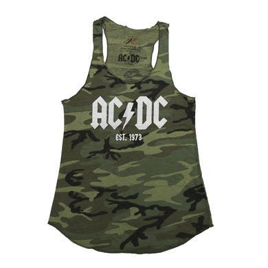 AC/DC Ladies Cammo Logo '73 Tank