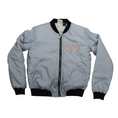 AC/DC For Girls About To Rock Baby Blue Bomber Jacket