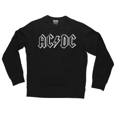 AC/DC Stencil Logo Crew Neck Sweatshirt