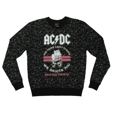 AC/DC Britain '82 About To Rock Crew Neck Sweatshirt