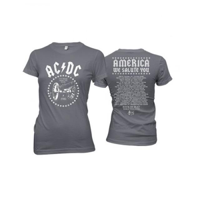 AC/DC Ladies 2016 America We Salute You T-Shirt